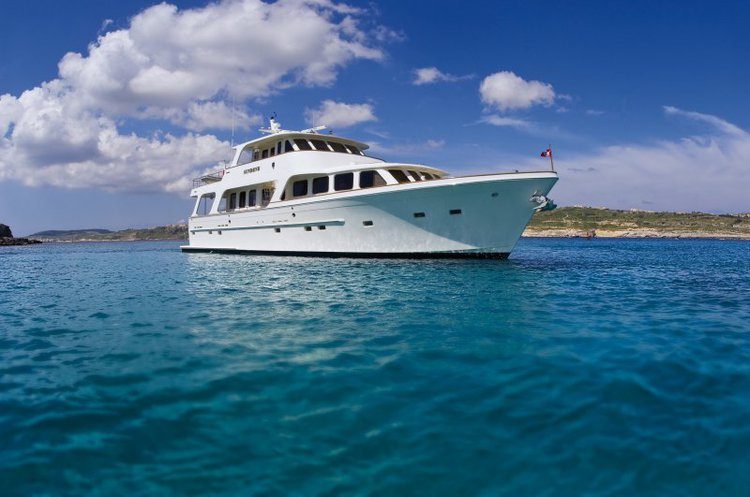 24 m Luxury Yacht available for skippered day charters in Malta