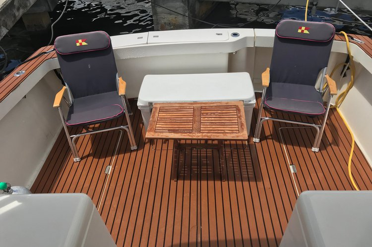 Express cruiser boat rental in La Coloma Marina, FL