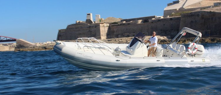 Stylish & affordable Rigid Inflatable Boat available for charter in Malta