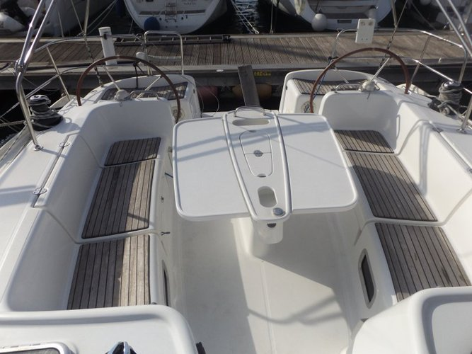 Discover St Julian's surroundings on this Cyclades 50.5 Beneteau boat