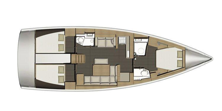 Charter this elegant 46' cruising monohull in Grenada
