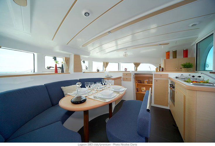 This 38.0' Lagoon cand take up to 10 passengers around St. George'S