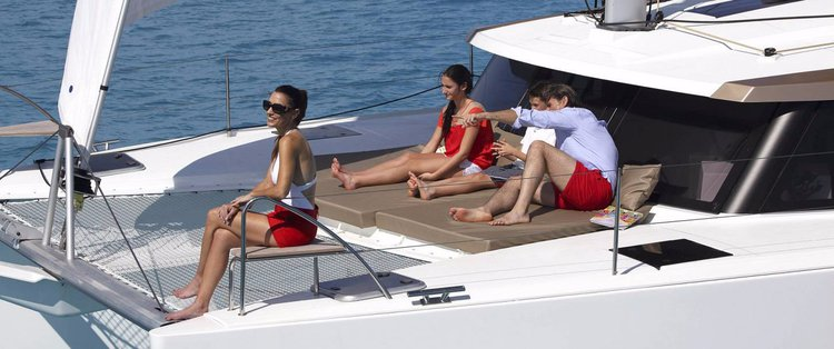 Discover Abaco surroundings on this 40 Owner Version Lucia boat