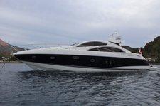 Luxury sport cruiser Sunseeker Predator 62  available for charter in Malta