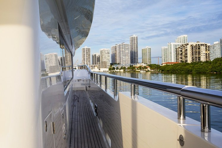 Mega yacht boat rental in Island Garden Marina,