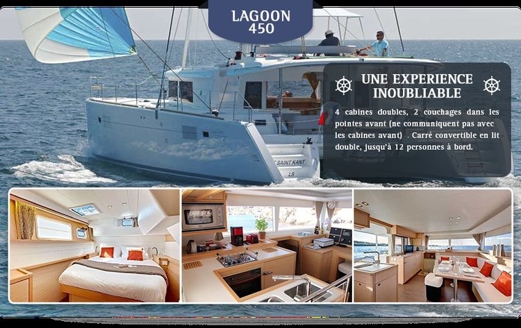 Lagoon boat for rent in Le Marin