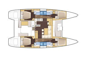 Boat for rent Lagoon 46.0 feet in Le Marin,