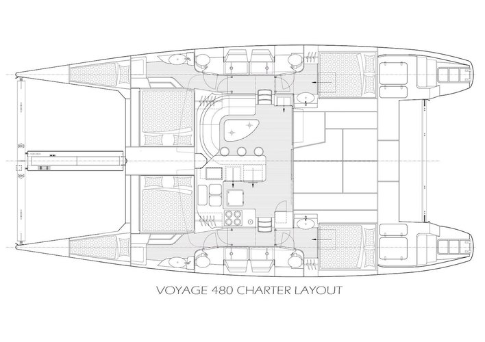 Boat for rent Voyage 48.0 feet in Soper's Hole Wharf & Marina, British Virgin Islands