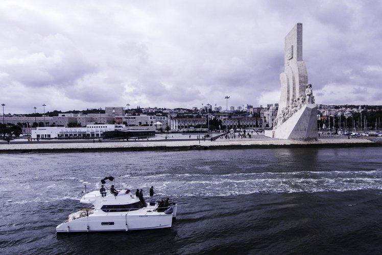 Modern motor Catamaran