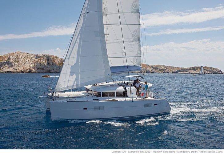 Catamaran boat rental in Dubrovnik, Croatia
