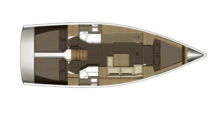Discover Sibenik surroundings on this 382 Liberty Dufour boat