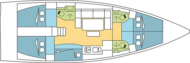 Boat for rent Dufour 46.0 feet in marina zaton,