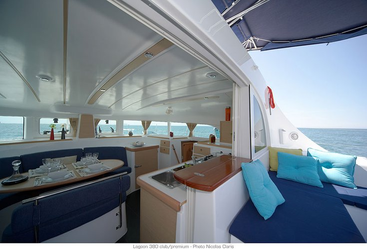 Discover Le Marin surroundings on this 380 Lagoon boat
