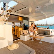 Up to 9 persons can enjoy a ride on this Lagoon boat