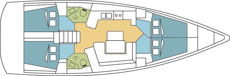 Boat for rent Oceanis 46.0 feet in marina zaton,