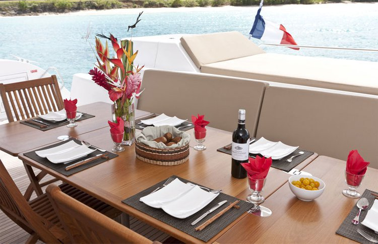 Discover Le Marin surroundings on this 57 Sanya boat