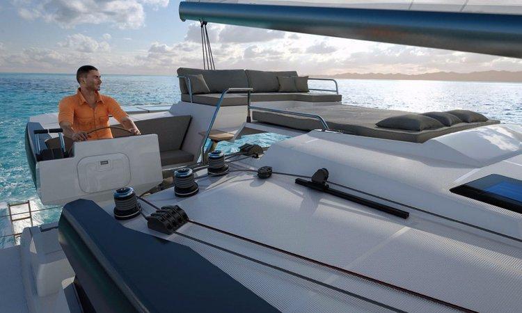 Catamaran boat for rent in Le Marin