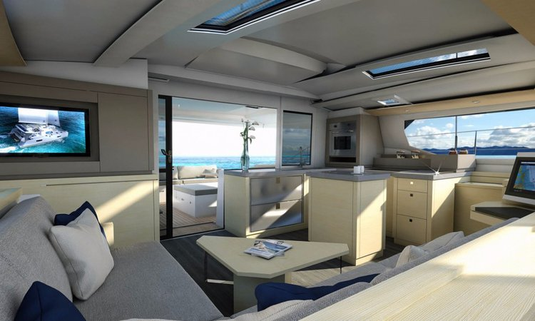 Discover Le Marin surroundings on this 47 Saona boat