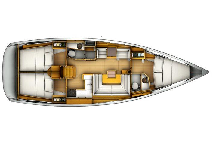 Boat for rent Sun Odyssey 40.0 feet in marina zaton, Croatia