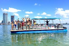 WE ARE NOW OPEN IN MIAMI - LARGE PARTY PONTOON for 13 FRIENDS AND FAMILY