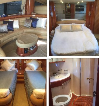 Azimut boat for rent in Penang