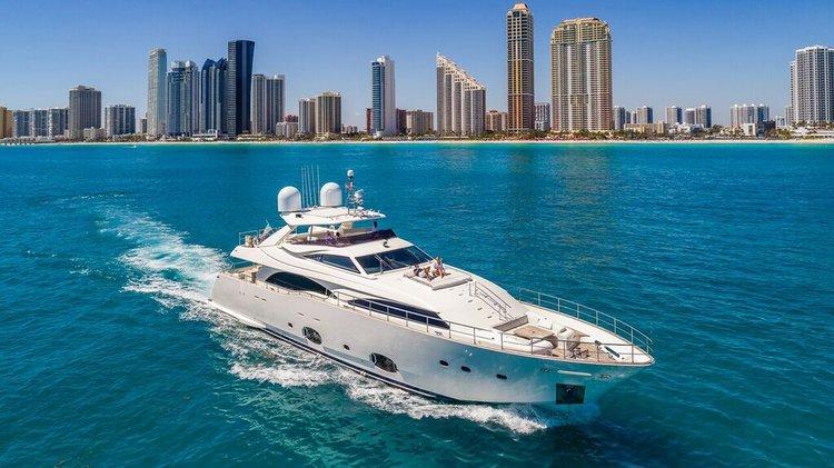 Yacht Party Rental in Miami - 97' Ferretti!