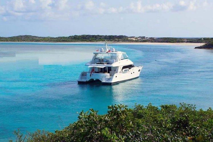 Have ultimate vacation in British Virgin Islands aboard Horizon 60 Power cat