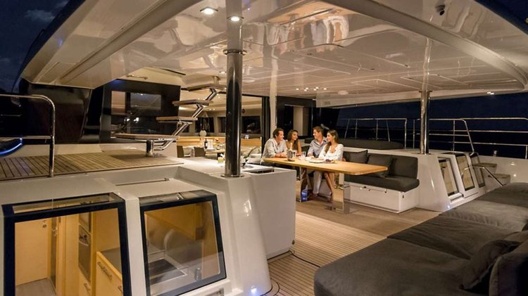 Discover Road Town surroundings on this 64 Powercat Lagoon boat
