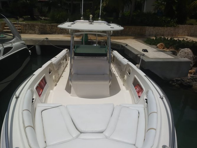 This 33.0' Promarine cand take up to 8 passengers around La romana