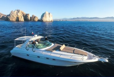 Express cruiser boat rental in Marina Cabo San Lucas, Mexico
