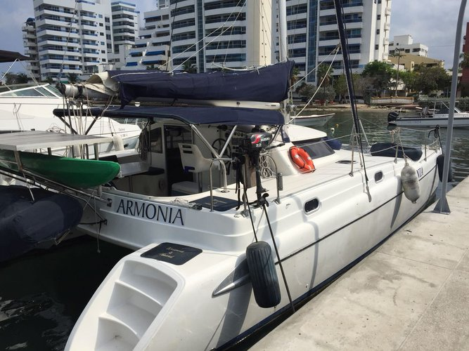 Catamaran boat rental in Cartagena, Colombia