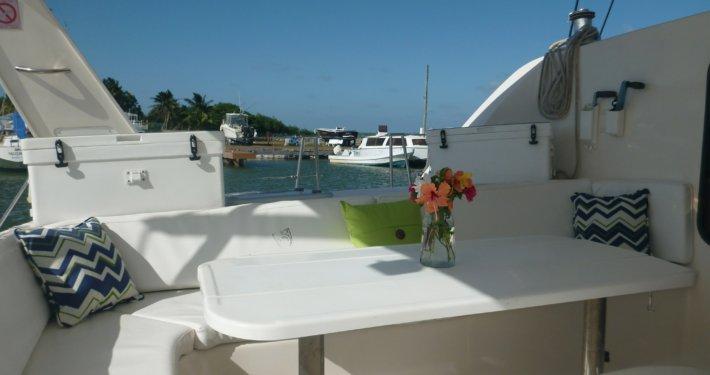 Boat for rent Leopard 47.0 feet in Cucumber Beach Marina, Belize