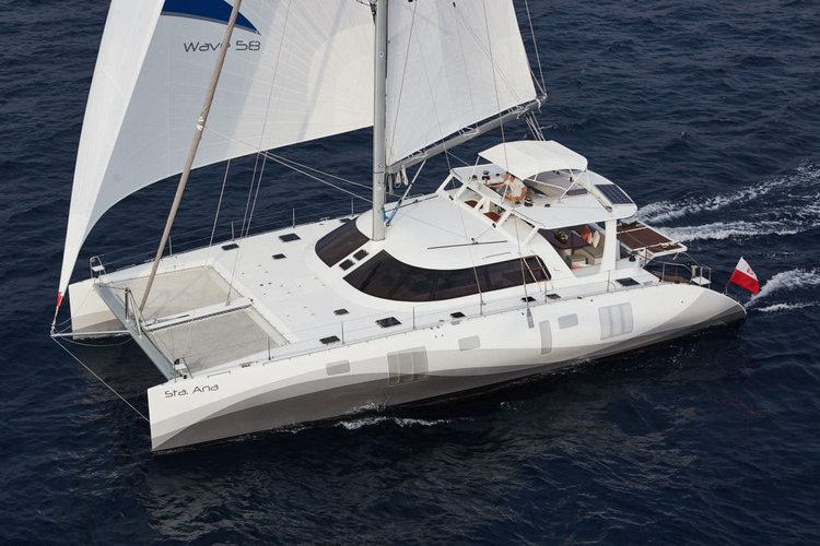 Set sail in the Caribbean aboard 58' elegant cruising catamaran