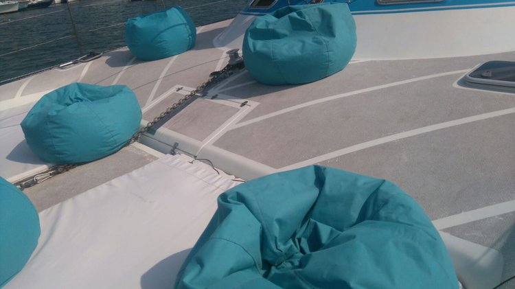 Up to 20 persons can enjoy a ride on this Catamaran boat