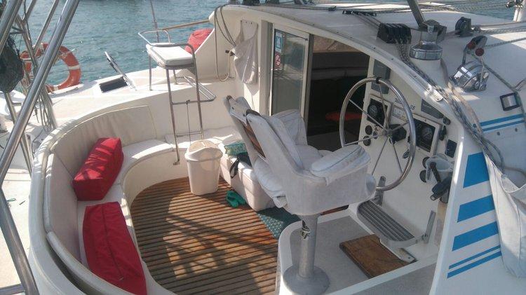 Boating is fun with a Catamaran in Cartagena