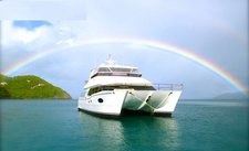 Fun in sun in British Virgin Islands aboard Horizon 60 Power Cat