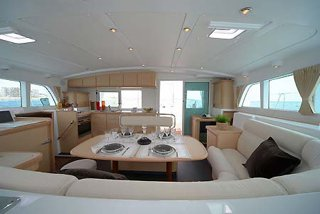 Up to 25 persons can enjoy a ride on this Catamaran boat