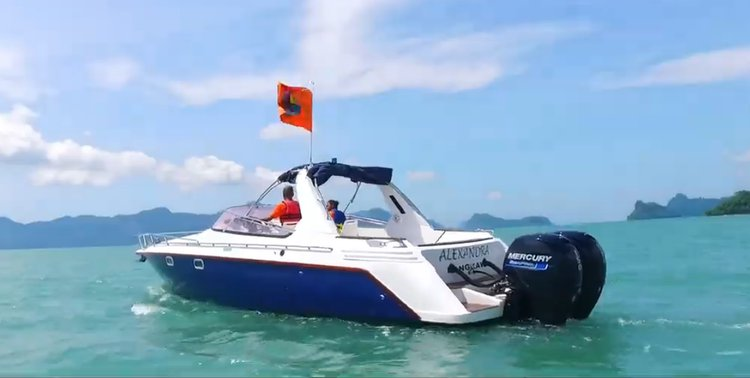 Boating is fun with a Express cruiser in Langkawi