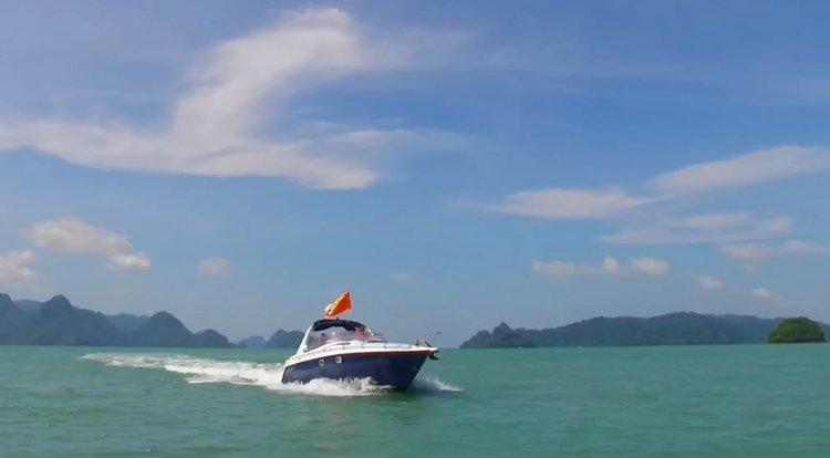 Express cruiser boat rental in Langkawi Marina,