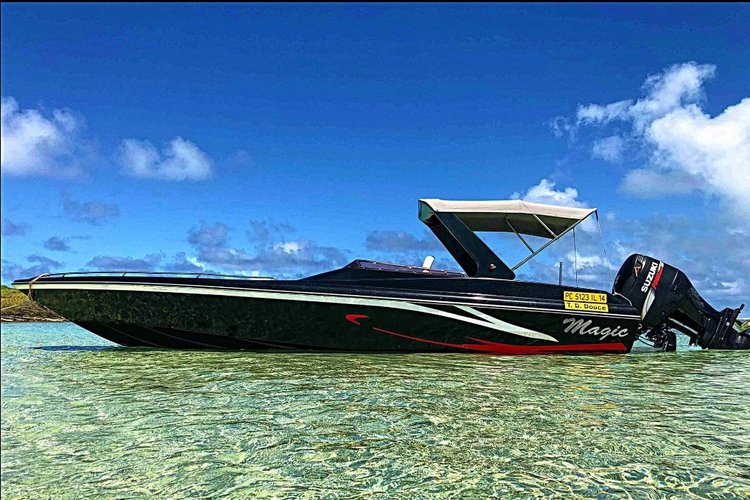 Explore Mauritius  on our comfortable motor boat for rent