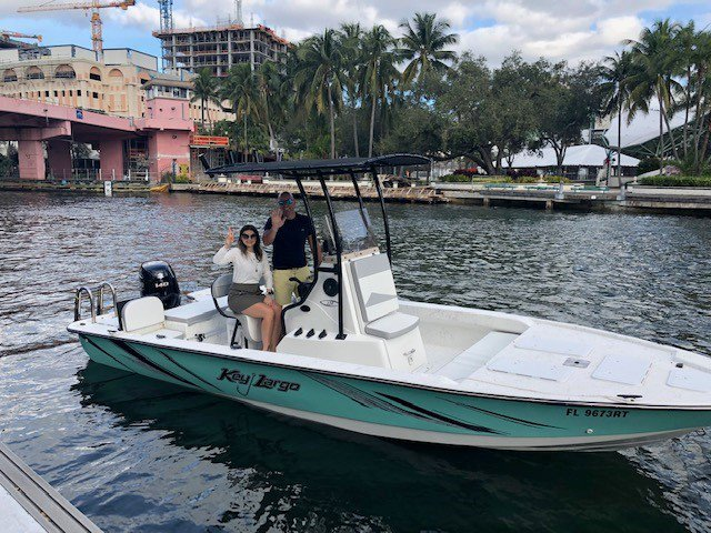 Boating is fun with a Center console in Fort Lauderdale