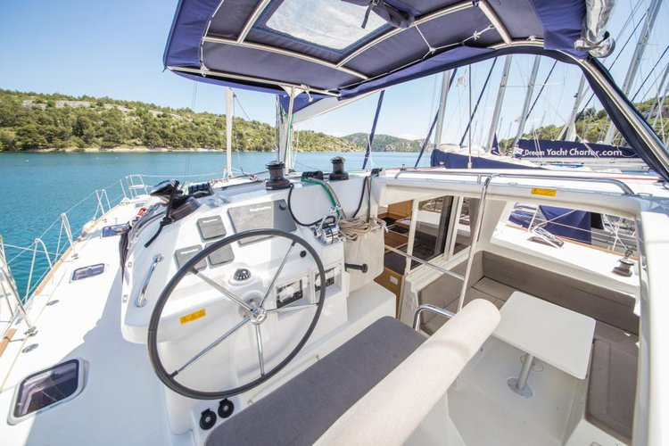 Catamaran boat rental in Sibenik, Croatia