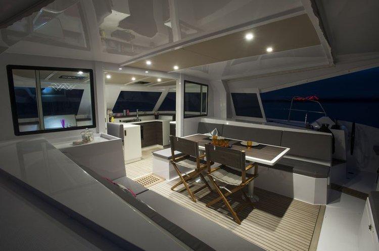 Discover Sibenik surroundings on this 40 Open Nautitech boat