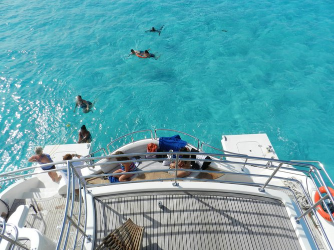 Catamaran boat rental in Cancún, Mexico