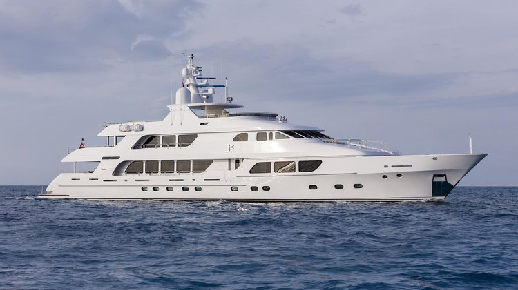 Hop aboard this luxurious motor yacht charter in the Caribbean