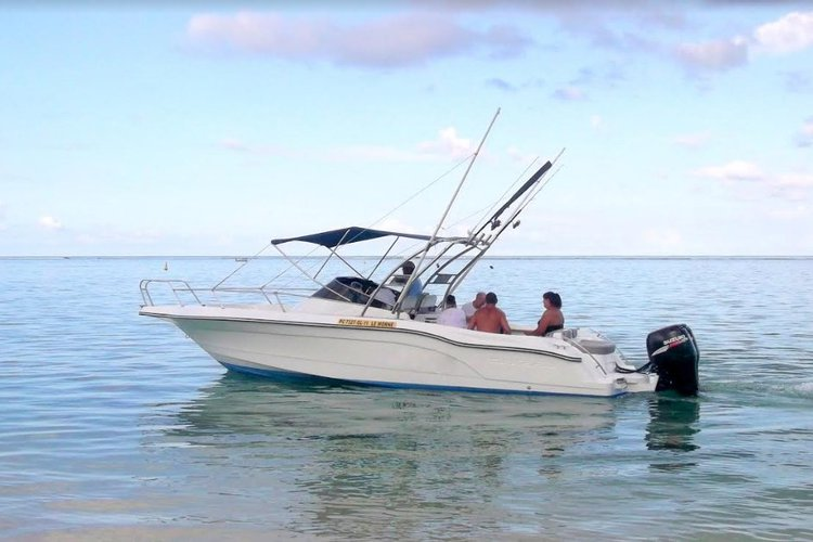Experience Le Morne on board this elegant motor boat