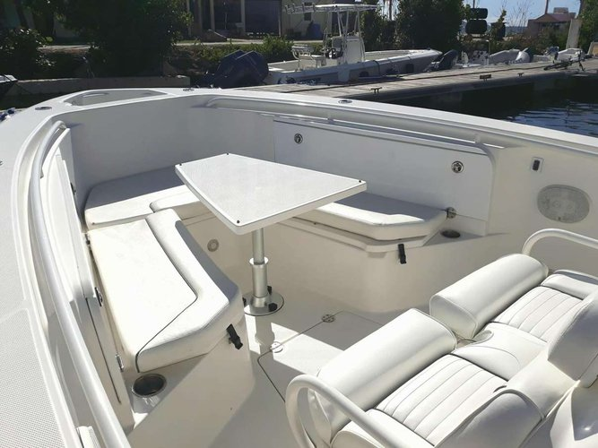 Discover Road Town surroundings on this 320cc Island Hopper Everglades boat