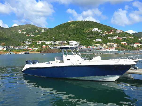 Relax on board our 32' Center Console charter in BVI's