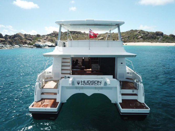 Discover Road Town surroundings on this HPC48 Hudson boat
