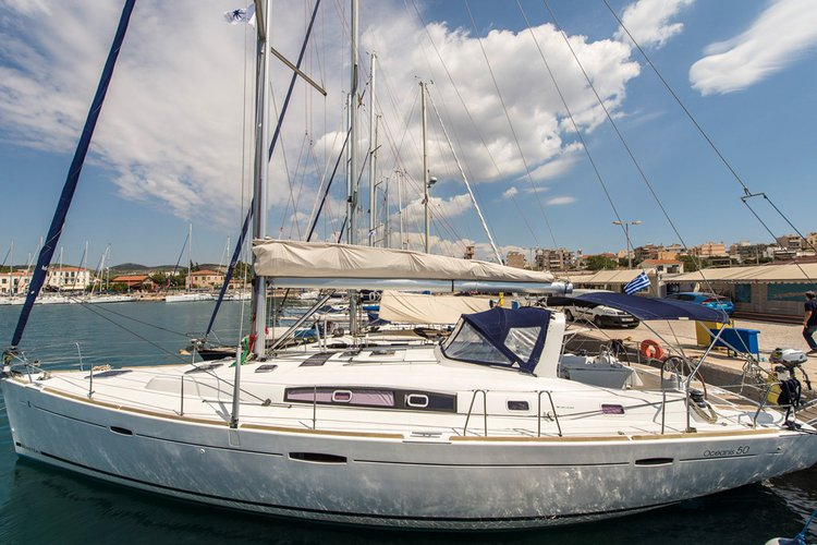 Take this awesome 50' sailing yacht for a spin!